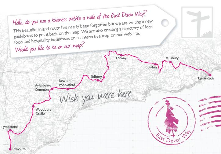 East Devon Way postcard.