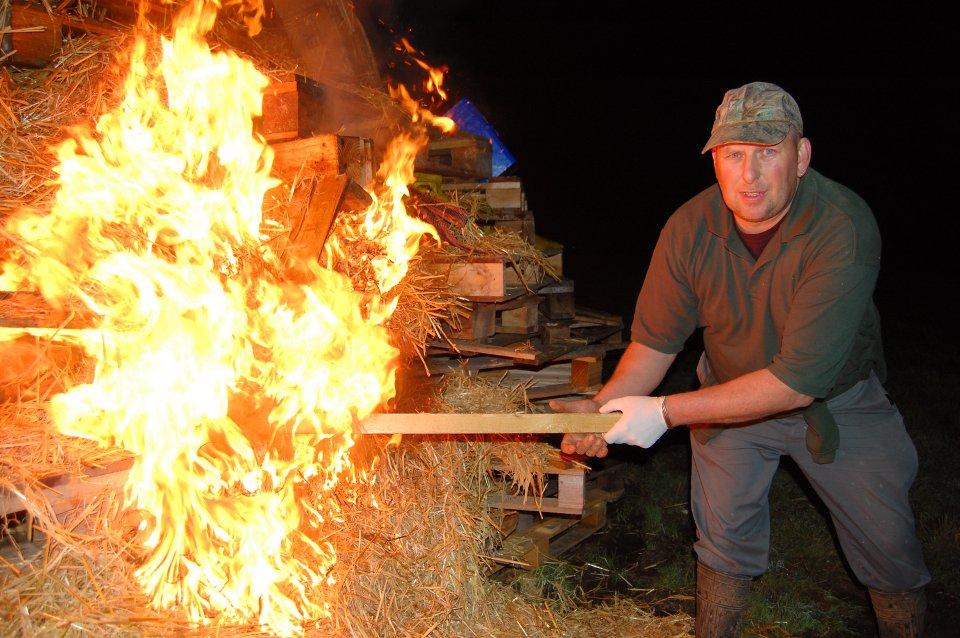 Huge bonfire to keep you all warm.